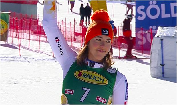 Petra Vlhová kann mit dem dritten Riesentorlauf-Platz in Sölden mehr als nur zufrieden sein