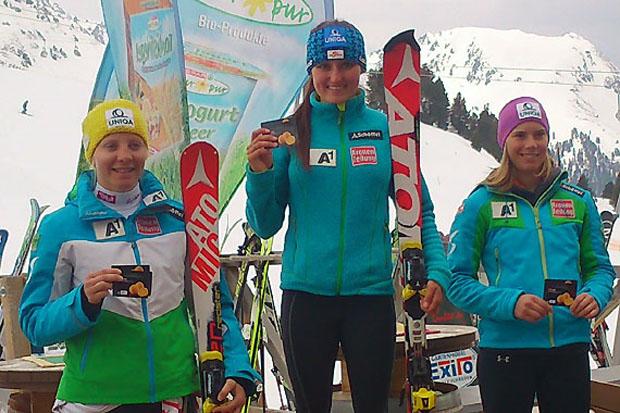 Die ÖSV Spar Jugendcup Gesamtwertung (Jahrgang 1996/1997) gewann Chiara Mair vor Katharina Gallhuber und Katharina Liensberger. (Foto: ÖSV)