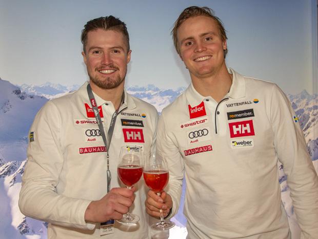 """Der """"schwedische"""" Osttiroler Alexander Köll (links) und Felix Monsen vom schwedischen Ski-Team. (Foto: Tirol Werbung / Barbara Plattner)"""