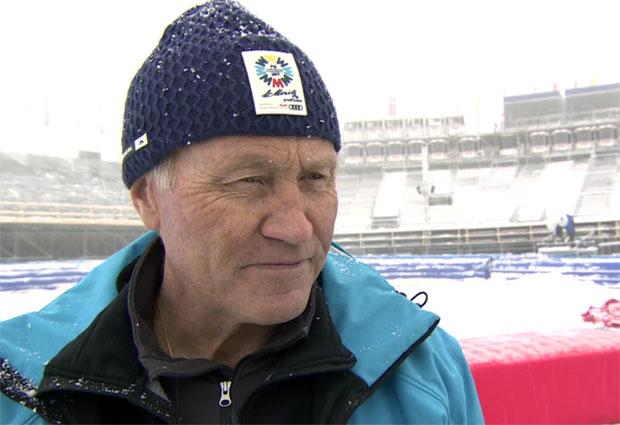 SKI WM 2017: Für Martin Berthod (Ressortleiter Rennorganisation) kommt der Neuschnee nicht gelegen