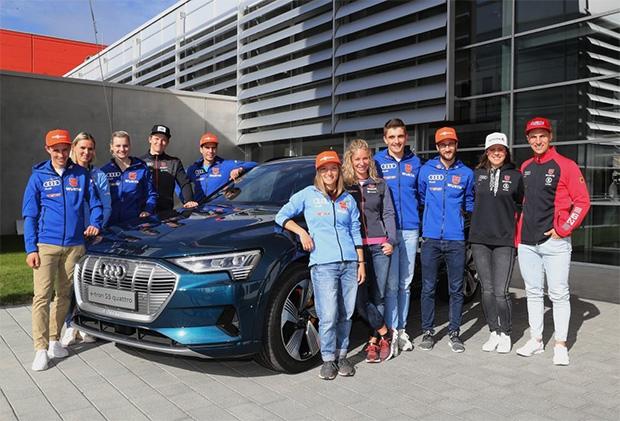 DSV-Athleten und Audi starten erneut gemeinsam in die Skisaison (Foto: © AUDI AG / Sammy Minkoff)