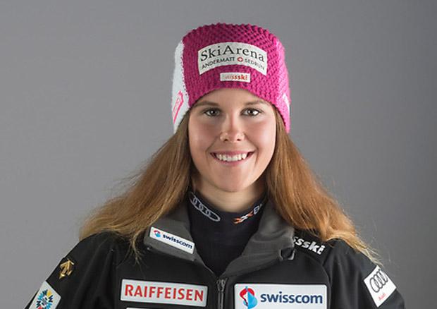 © swiss-ski.ch / Aline Danioth kürt sich zur Junioren-Alpine-Kombinations-Weltmeisterin 2018.