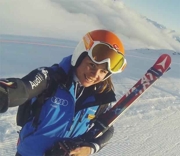 Die ersten erfolgreichen Schneetag liegen hinter Nicol Delago  (Foto privat: Nicol Delago)
