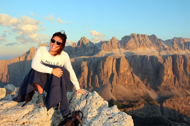 Nicol Delago: Auf den Skiern unterwegs, aber in den schönen südtiroler Bergen zuhause. (Foto: Privat / Nicol Delago)