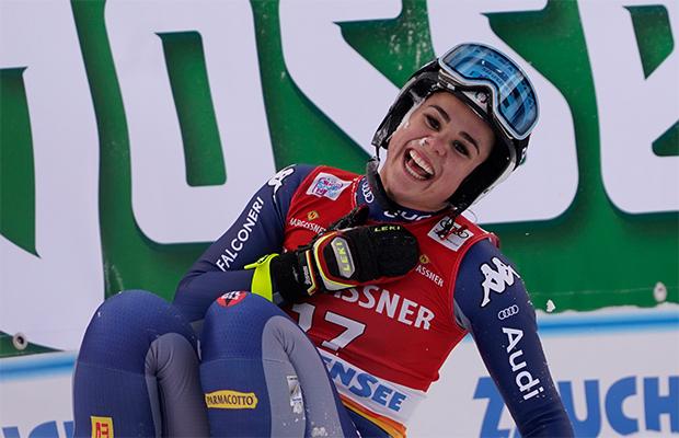Nicol Delago träumt von der Ski-WM 2021 in Cortina d'Ampezzo. (Foto: © Archivo FISI / Gio Auletta /Pentaphoto)