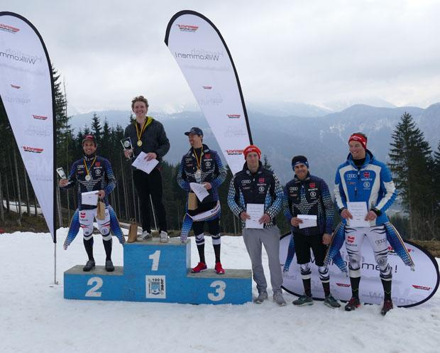 Die Favoriten setzten sich durch beim Slalom der Deutschen Meisterschaft 2017. Es siegte Linus Strasser vor Dominik Stehle und Geburtstagskind Stefan Luitz. Die Plätze vier bis sechs belegten Adrian Meisen, Philipp Schmid und Bastian Meisen. (Bild: Helmuth Wegscheider)