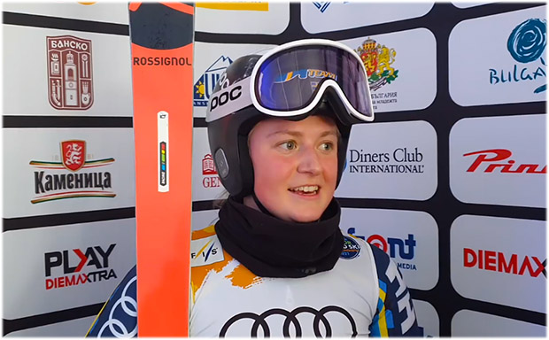 Hanna Elfman Aronsson kürt sich zur Junioren-Riesentorlauf-Weltmeisterin von Bansko