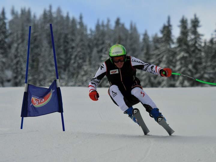 © austria-skiteam.at / Europacup-Titelverteidiger Markus Salcher (KTN) beim Super-G Training auf der Reiteralm