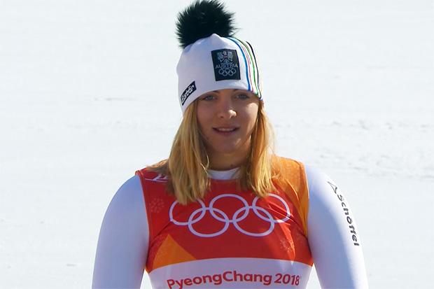 Katharina Gallhuber durfte sich nach Laufbestzeit im zweiten Durchgang über die Bronzemedaille freuen.