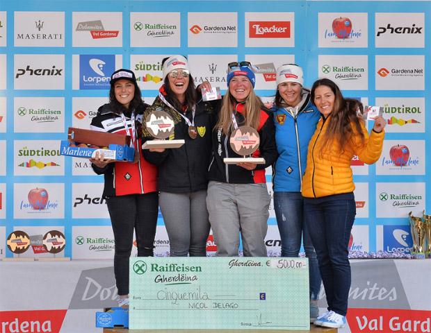 Bei den Damen gewann Nicol Delago vor Federica Brignone und Verena Stuffer. (Foto: www.gardenissima.eu)