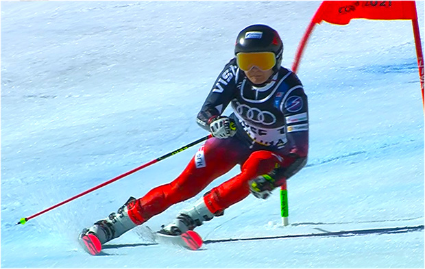 Anastasia Gornostaeva bei der Ski-WM 2021 in Cortina d'Ampezzo