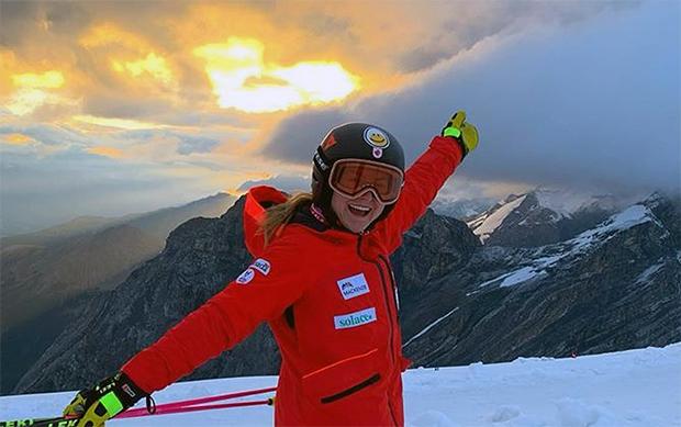 Valérie Grenier freut sich auf ihre Rückkehr in den Ski Weltcup (Foto: ©  Valérie Grenier / Instagram)
