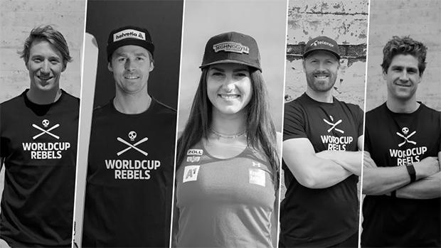 Fünf Neuzugänge bei den HEAD Worldcup Rebels: Nef, Luitz, Venier, Nestvold-Haugen, Cochran-Siegle (Foto: © Head)