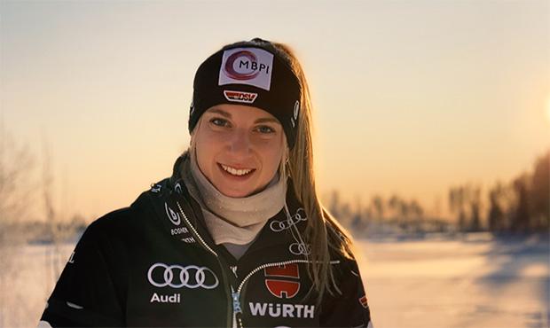 Hauchdünner Sieg für Jessica Hilzinger im EC-Slalom von Funesdalen (Foto: © Jessica Hilzinger / instagram)