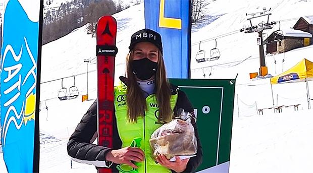 Europacup Riesentorlauf-Sieg in Livigno für Jessica Hilzinger (Foto: © Jessica Hilzinger)