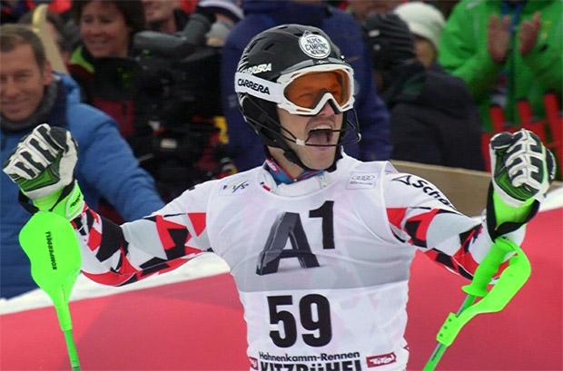 Christian Hirschbühl überzeugte mit Platz sieben in Kitzbühel