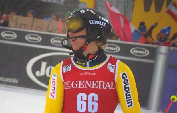 Junger Schwede Kristoffer Jakobsen sorgt beim Slalom von Levi für Furore