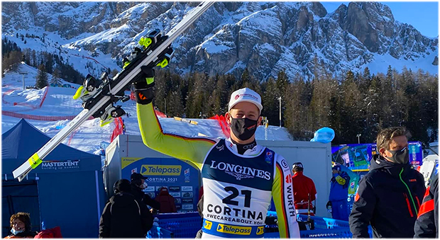 "Simon Jocher: ""Das Skigefühl ist da, das Training macht Spaß."" (Foto: © Simon Jocher / Facebook)"