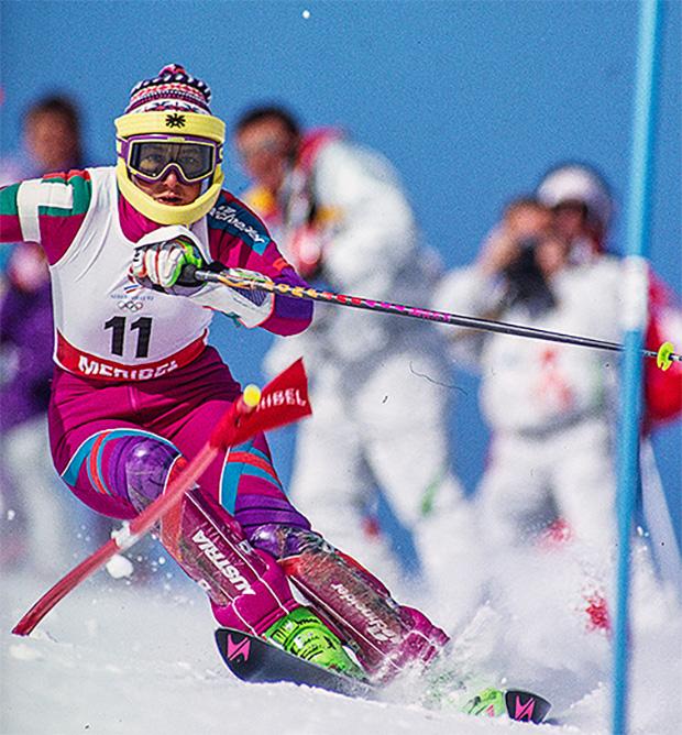 Petra Kronberger war die erste alpine Skirennläuferin, welche in allen fünf Disziplinen als Erste ins Ziel kam. (Foto: © Hans Bezard / privat)