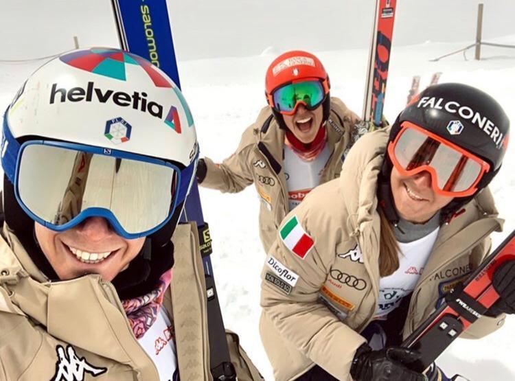 Auch Marta Bassino, Federica Brignone und Sofia Goggia werden nicht in Südamerika trainieren.  (Foto: Italia Team / Facebook)