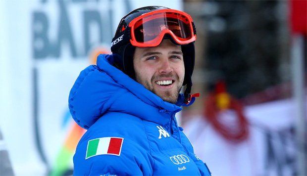 © Archivio FISI  /  Simon Maurberger gewinnt Alpine Kombination auf dem Neveasattel (Foto: Pentaphoto/Alessandro Trovati)