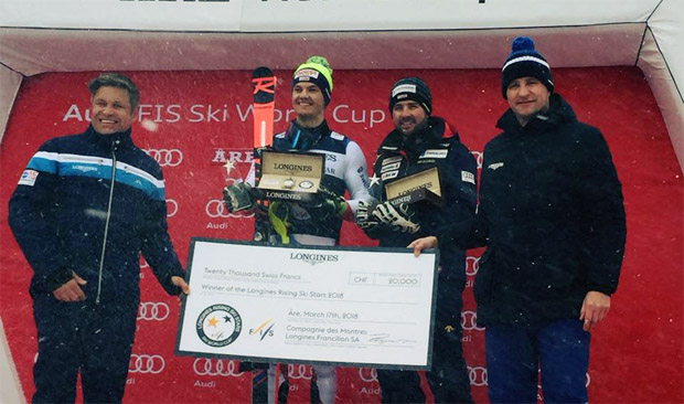 Die Geschwister Melanie Meillard und Loïc Meillard haben den Longines Rising Ski Star Award gewonnen. Mélanie konnte nicht teilnehmen, Jérôme Krieg hat den Preis für sie entgegen genommen. Gratulation zu dieser tollen Leistung! (Foto: Swiss Alpine Ski Team / Facebook)