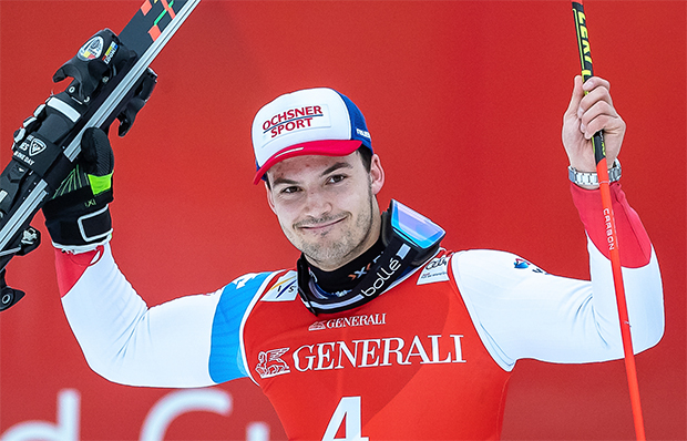 Nicht nur Loic Meillard freut sich auf den Start in die Ski Weltcup Saison 2020/21. (Foto: © Erich Spiess/ASP/Red Bull Content Pool)