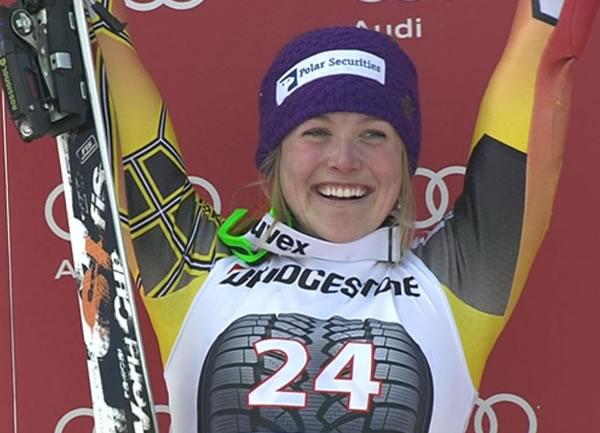 Erin Mielzynski gewinnt Slalom in Ofterschwang