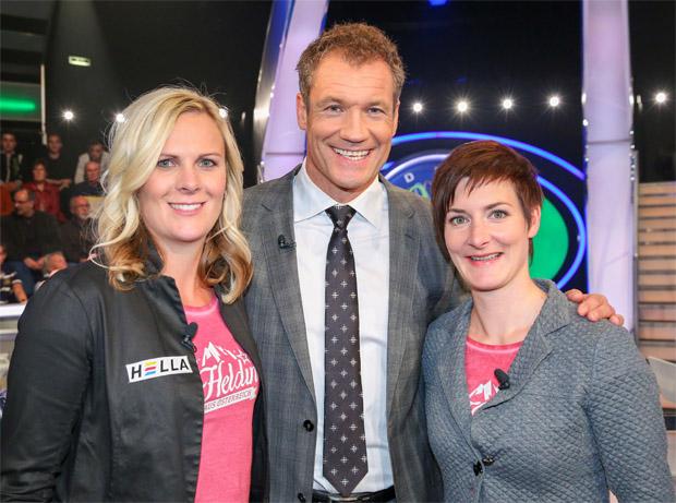 Sportler-Millionenshow im ORF mit Niki Hosp und Kathi Zettel (Bildquelle: ORF/Milenko Badzic)