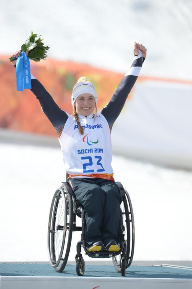 """© """"Allianz, Ralf Kuckuck"""" / Anna Schaffelhuber, 2. Goldmedaille"""