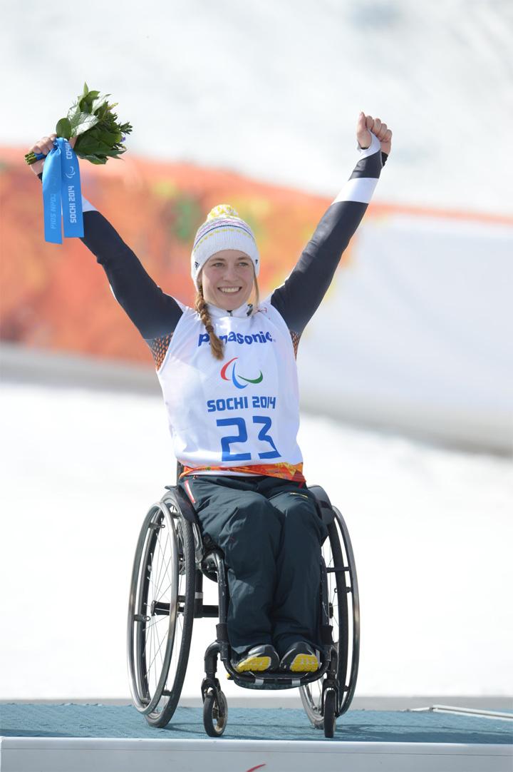 """© """"Allianz"""" / Anna Schaffelhuber, 2. Goldmedaille"""