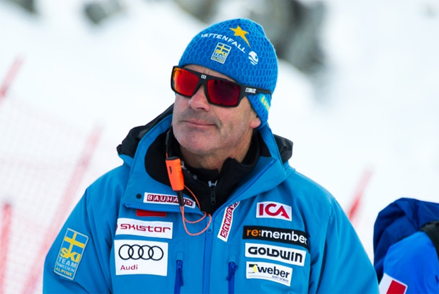 Schwedens Herren-Cheftrainer Heinzpeter Platter im Skiweltcup.TV-Interview (Foto: Klas Rockberg/SSF)