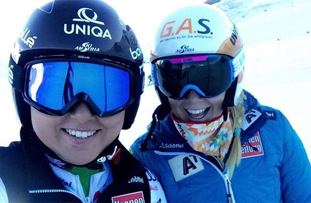 Mit einem Lächeln durch den Trainingstag: Bianca Venier und Martina Rettenwender (Foto Martina Rettenwender / privat)