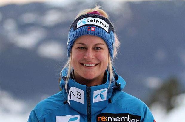 Kristina Riis-Johannessen siegt beim EC-Super-G in Châtel (Foto: www.skiforbundet.no)