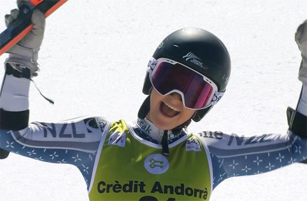 Alice Robinson überrascht alle mit Platz zwei im Riesentorlauf von Soldeu