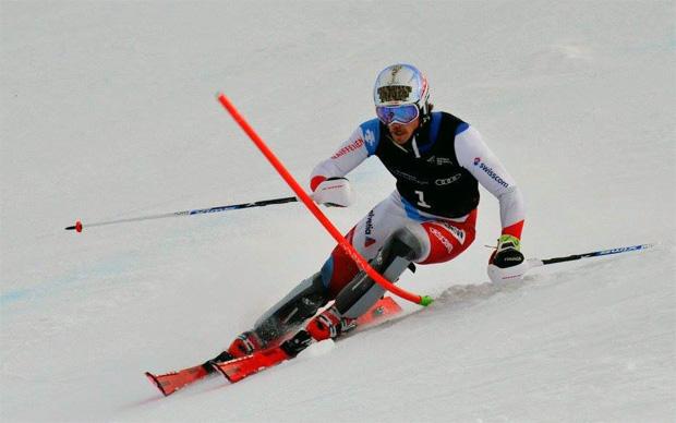 ©Anne Barwood / Marc Rochat gewinnt Europacup-Slalom in Fjätervålen in überlegener Manier