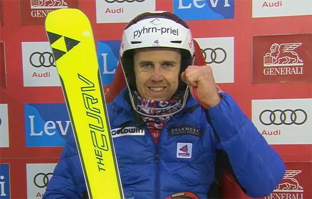 Dave Ryding hat die Halbzeitführung beim Slalom von Levi inne