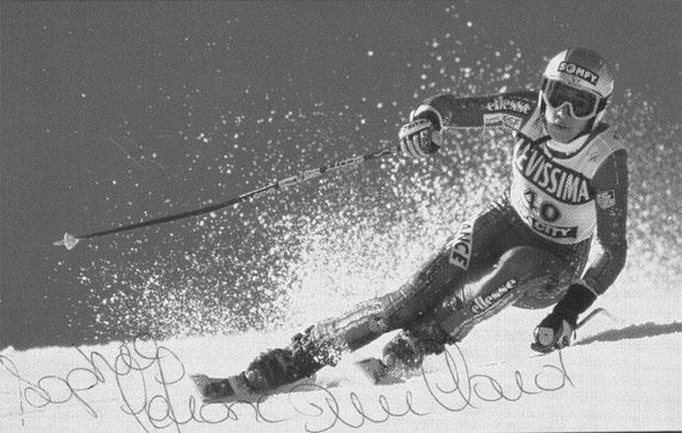 Der Skiweltcup trauert um Sophie Lefranc-Duvillard (Autogrammkarte)