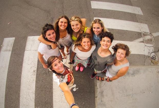 © facebook Federica Sosio / mit Nicol Delago, Laura Pirovano, Verena Gasslitter, Valentina Cillara, Asja Zenere, Jole Galli und Alessia Timon