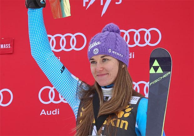 ©  Fischer Sports/GEPA - Tschechin Sarka Strachova überzeugte beim Slalom in Aspen (USA) mit einem fantastischen, dritten Platz.