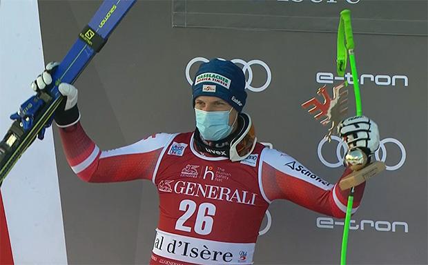 Otmar Striedinger verpasst bei der Abfahrt von Val d'Isere ersten Ski Weltcup Sieg