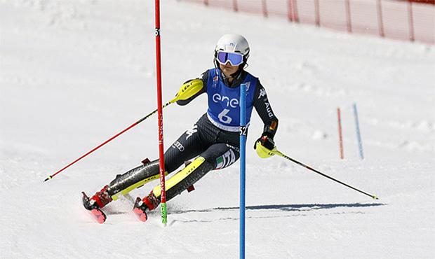 Vera Tschurtschenthaler, die italienische Meisterin 2019 im Slalom