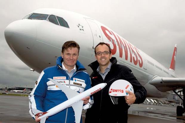 © swiss-ski.ch / Urs Lehmann, Präsident Swiss-Ski und Markus Binkert, Chief Commercial Officer von SWISS
