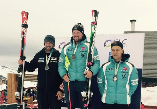 """Klaus Brandner: """"Erstes Rennen erster Sieg! So kanns weiter gehn!! Gratulation auch an Josef Ferstl zum 3. Platz."""" (Foto: Klaus Brandner / facebook)"""