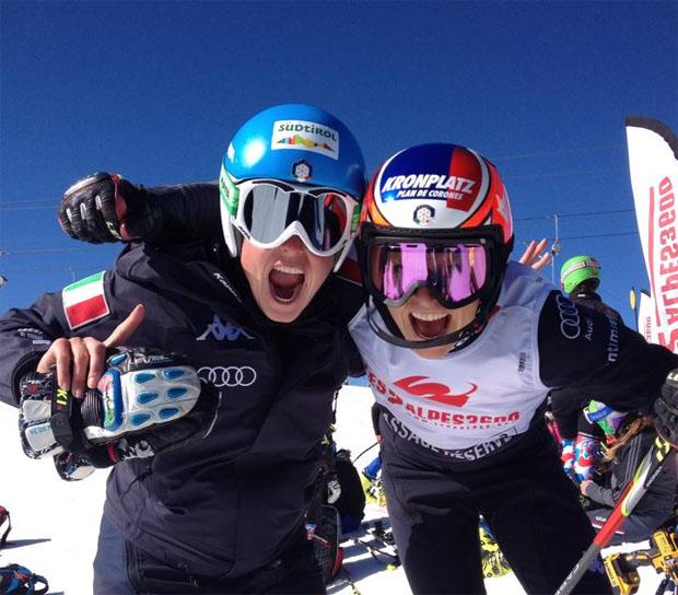 © Verena Stuffer und Manuela Mölgg in Les Deux Alpes