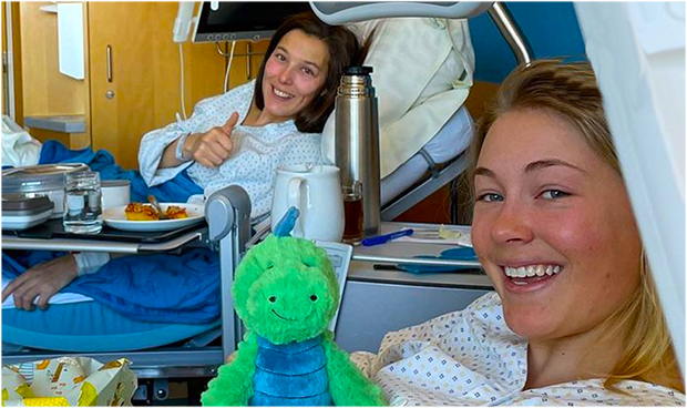 Für Rosina Schneeberger und Kajsa Vickhoff Lie heißt es: Geteiltes Leid ist halbes Leid (Foto: Kajsa Vickhoff Lie / instagram)