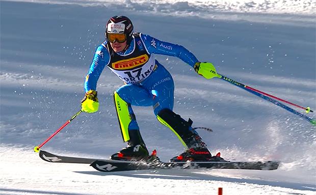 Alex Vinatzer zum Fitnesstest im olympischen Trainingszentrum von Formia