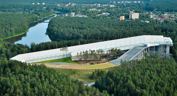 """Bis Sonntag ist die """"Snow Arena"""" von Wilna azurblau gefärbt (Foto: FISI.org)"""