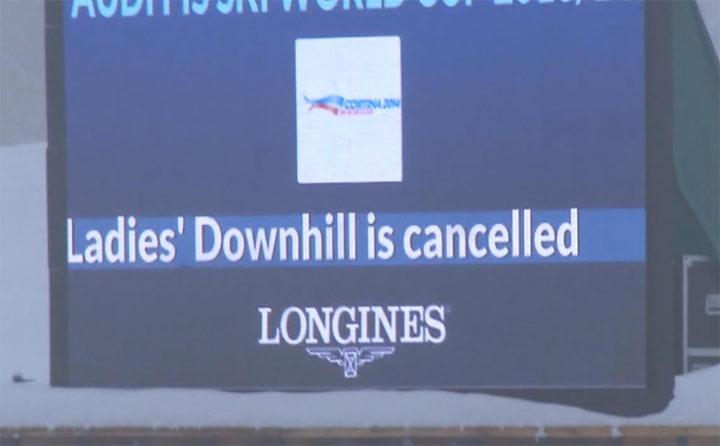 Die Abfahrt in Cortina ist abgesagt