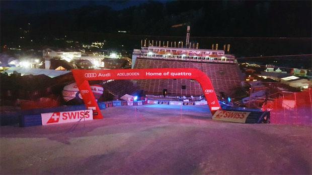 Blick nach Adelboden (Twitter: FIS Alpine)